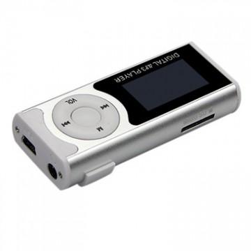 MP3 плеер с дисплеем и фонариком 339 FM Серебристый в Одессе