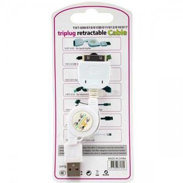 USB кабель iPhone 4S YXT-010 1m белый в Одессе
