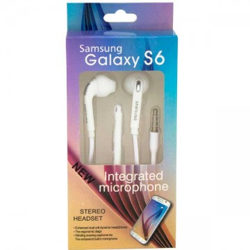Наушники с микрофоном EO-HS330 Galaxy S6 белые в Одессе