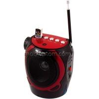 Радиоприемник GOLON RX-902AUT фонарик-USB-SD красно-черный