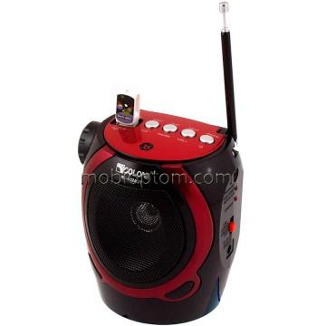 Радиоприемник GOLON RX-902AUT фонарик-USB-SD красно-черный  в Одессе