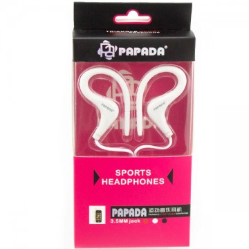 Наушники с микрофоном Papada Sport белые в Одессе