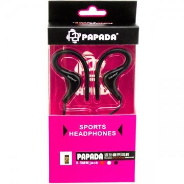 Наушники с микрофоном Papada Sport Черные в Одессе