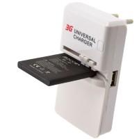 Сетевое зарядное устройство Краб 3G + USB white