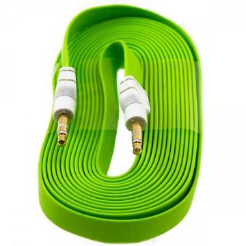 AUX кабель 3.5 плоский 3 метра зеленый в Одессе