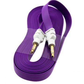 AUX кабель 3.5 плоский 3 метра фиолетовый в Одессе