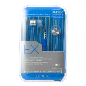 Наушники с микрофоном EX EV-2501SL голубые в Одессе
