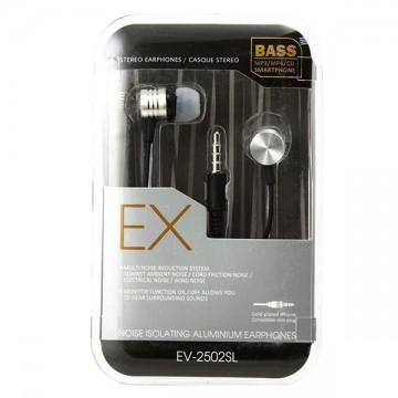 Наушники с микрофоном EX EV-2502SL черные в Одессе