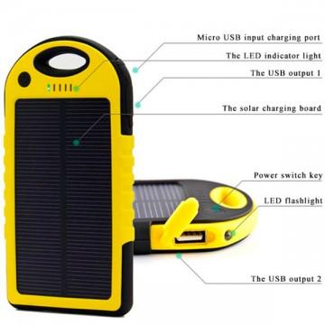 Solar Charger ES500 Power Bank 5000 mAh black-yellow в Одессе