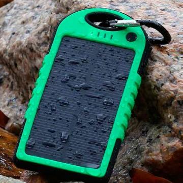 Solar Charger ES500 Power Bank 5000 mAh black-green в Одессе