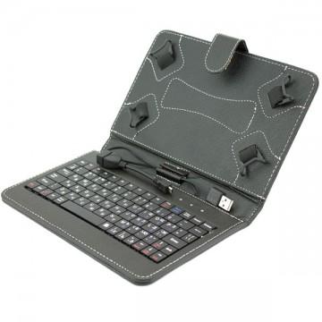 Чехол-клавиатура 7 дюймов USB + OTG Micro USB черный в Одессе